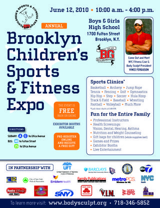 Updated Childrens Sports Fit Expo 2010